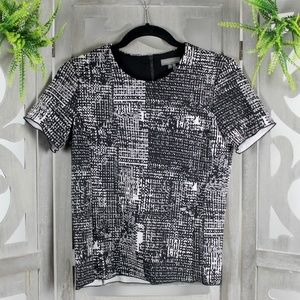 Vince Camuto Black/White Top NEW Size XS